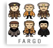 Fargo Cartoon Canvas Print