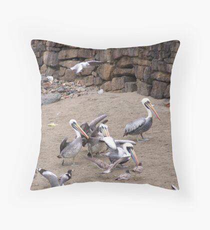 Fishing boat, Peru Throw Pillow