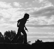 run an jump silhouette by trishringe