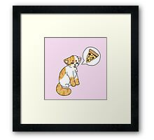 Orange and white Pizzacat Framed Print