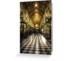 The Block Arcade Melbourne City Greeting Card