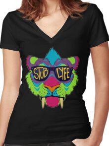 #StubLyfe Women's Fitted V-Neck T-Shirt