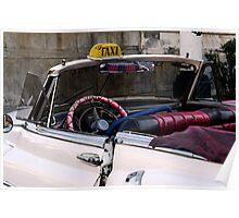 Open top Taxi, Havana, Cuba Poster