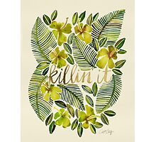 Killin' It – Tropical Yellow Photographic Print