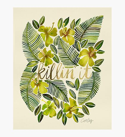 Killin' It – Tropical Yellow Photographic Print