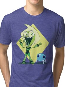 Invader Peridot Tri-blend T-Shirt