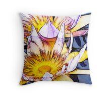 Lotus Flowers - Fractalius  Throw Pillow