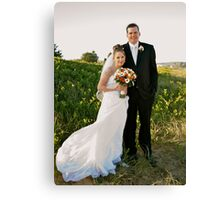 MY first wedding shoot Canvas Print