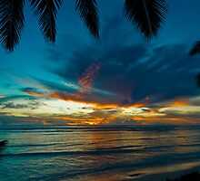 Castaway Sunset - Cocos (Keeling) Islands by Karen Willshaw