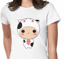 cow Womens Fitted T-Shirt