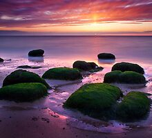 Green Boulders at Sunset, Hunstanton, Norfolk by DaveTurner