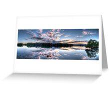 Woy Woy sunrise Panorama Greeting Card