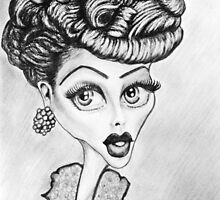 Lucille Ball Caricature by loflor73