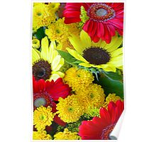Colorful autumn flowers Poster
