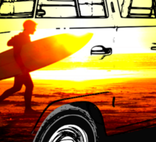 Surf Far Away Places Sticker