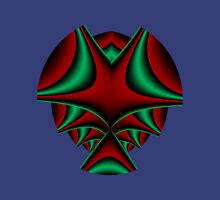 Red-green fractal T Womens Fitted T-Shirt