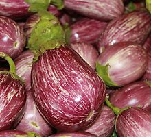 Purple Eggplant located at your local fruit stand by Missy Yoder
