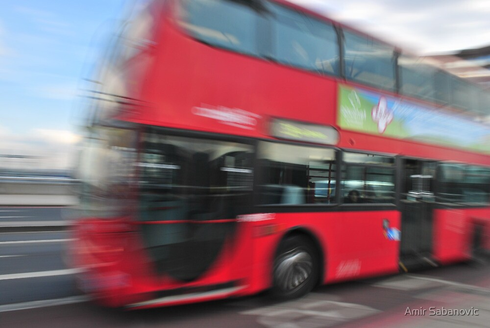 London Red Bus by Amir Sabanovic