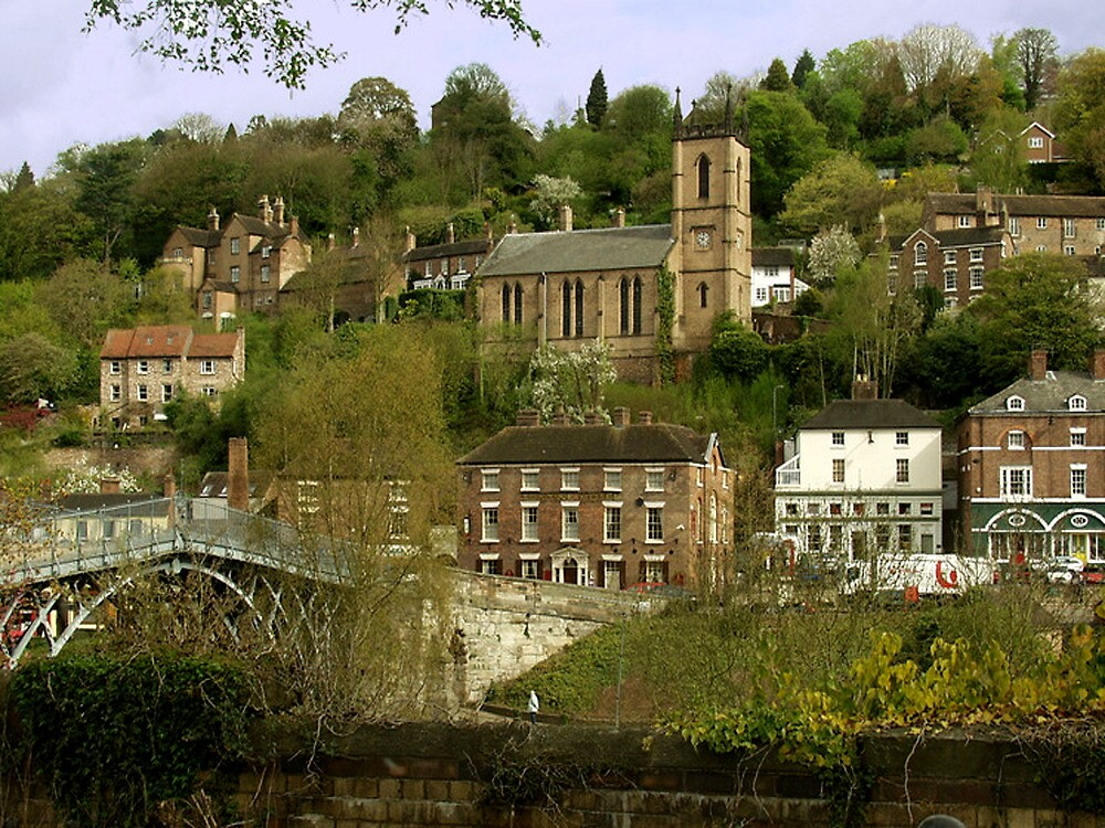 The Town Of Ironbridge in Shropshire by Andrew  Bailey