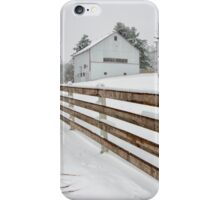 Winter Barn and Fence iPhone Case/Skin