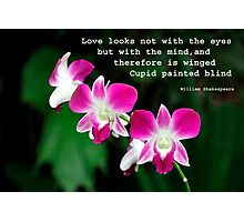 Orchids in Watercolour Quotation Photographic Print