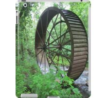 Giant mill wheel rolled off down the river iPad Case/Skin