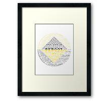 ReBoot Typography Framed Print