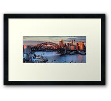 Light Camera Action (25 Exposure HDR Panorama)  - Sydney Harbour - The HDR Experience Framed Print