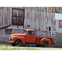 Old Chevy truck Photographic Print