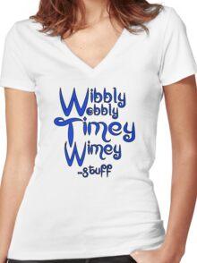 Wibbly Wobbly Timey Wimey... stuff 2 Women's Fitted V-Neck T-Shirt