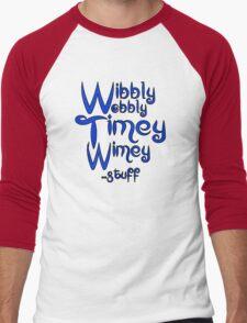 Wibbly Wobbly Timey Wimey... stuff 2 Men's Baseball ¾ T-Shirt