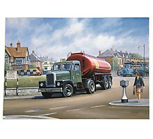 Scammell Highwayman tanker. Photographic Print
