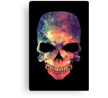 Universe - Space - Galaxy Skull Canvas Print
