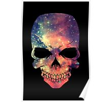 Universe - Space - Galaxy Skull Poster