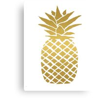 gold foil pineapple Canvas Print