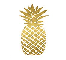 gold foil pineapple Photographic Print
