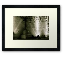 Now I lay me down to sleep... Framed Print