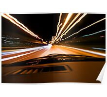 The speed of light - drive through the night Poster
