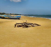 BEACH,BOAT & FLOTSAM  by ronsaunders47