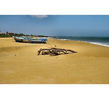 BEACH,BOAT & FLOTSAM  Photographic Print