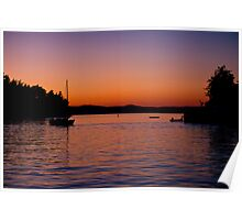 Roche Harbor Sunset Poster