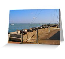 COWES GUNS Greeting Card