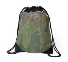 Gum Leaves Drawstring Bag