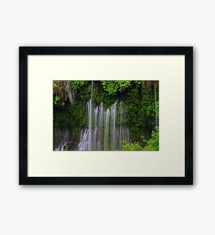 Burney Falls with Satin Curtains... Framed Print