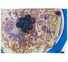 Blackberry Pancake Poster