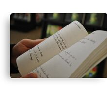 reading reading reading Canvas Print