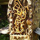 The Celtic Oak Dragon Faerie Door by Cheryl Sinfield
