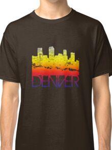 Denver Skyline T-shirt design Classic T-Shirt