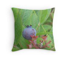One Wild Wisconsin Blueberry Throw Pillow
