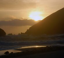 Sunset on Pheiffer Beach by tom j deters